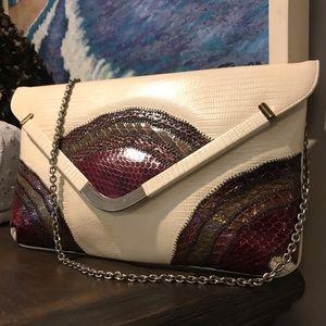 Caprice Vintage Reptile Skin Chain Strap Bag